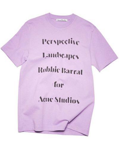 T-shirt z printem - fioletowa Acne Studios