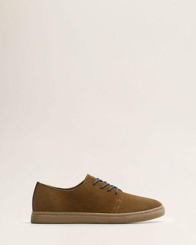 Туфли на шнуровке кожаные Mango Man