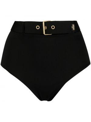 Черные плавки бикини эластичные с пряжкой Moschino