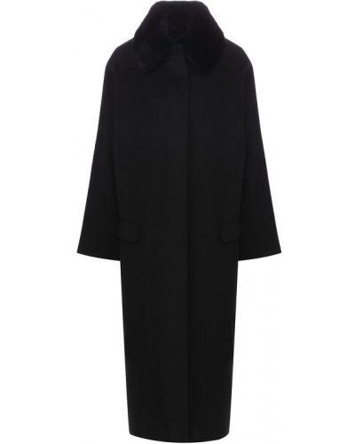 Пальто шерстяное с воротником Tegin