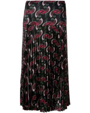 Плиссированная юбка с цветочным принтом пачка Fendi