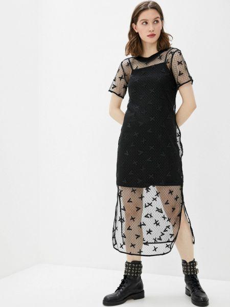 Вечернее платье черное весеннее Armani Exchange
