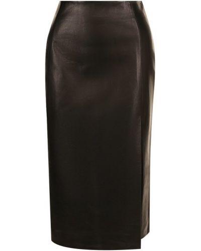 Кожаная юбка с вырезом Drome