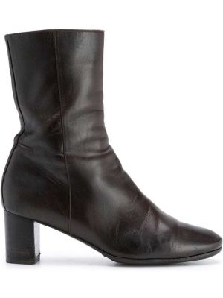Коричневые ботинки на каблуке на молнии Hermès Pre-owned