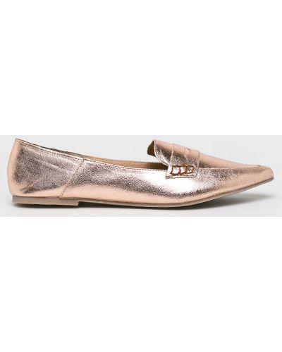 Мокасины кожаные розовый Answear
