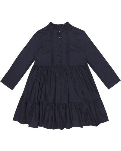 Платье синее темный Bonpoint