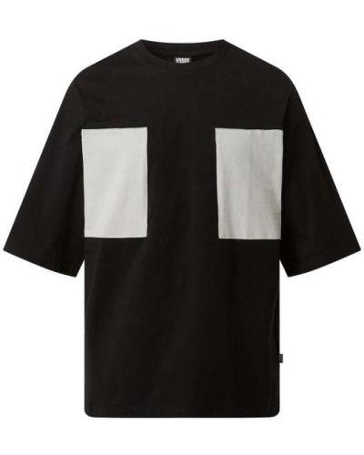 Czarny t-shirt bawełniany miejski Urban Classics