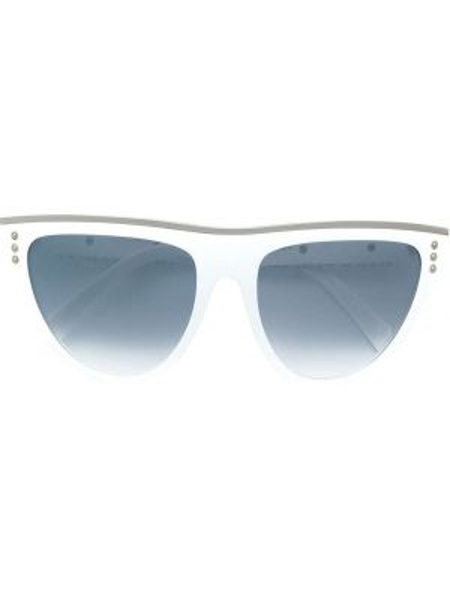 Муслиновые солнцезащитные очки хаки Moschino Eyewear