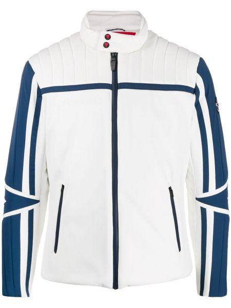 Куртка горнолыжная на молнии белая Vuarnet