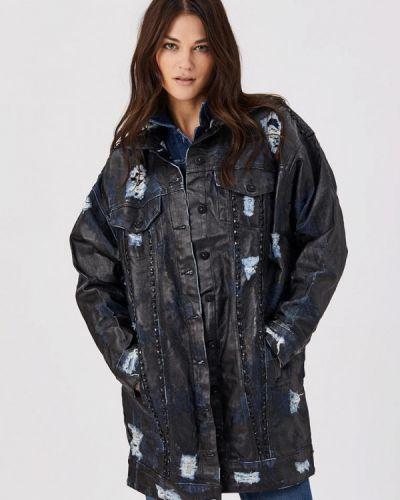 Черная джинсовая куртка D'she