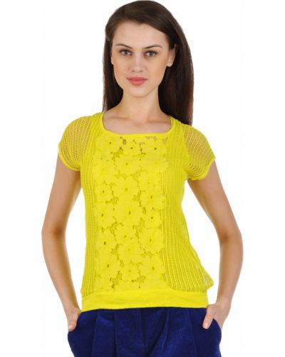Хлопковая блузка - желтая Luisa Cerano