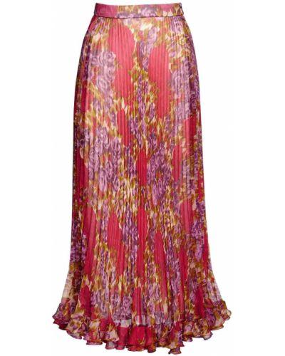 Шифоновая плиссированная юбка миди с подкладкой Luisa Beccaria