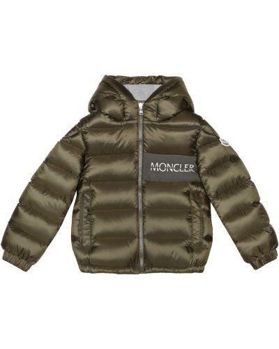 Утепленная куртка зеленая пуховый Moncler Enfant
