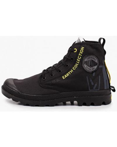 Текстильные черные ботинки Palladium