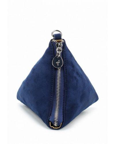 Синяя сумка замшевая Menbur