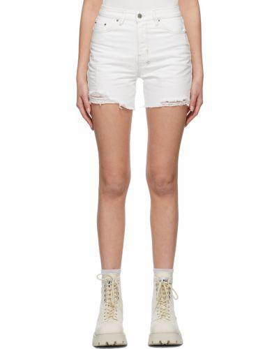 Белые джинсовые джинсовые шорты Ksubi
