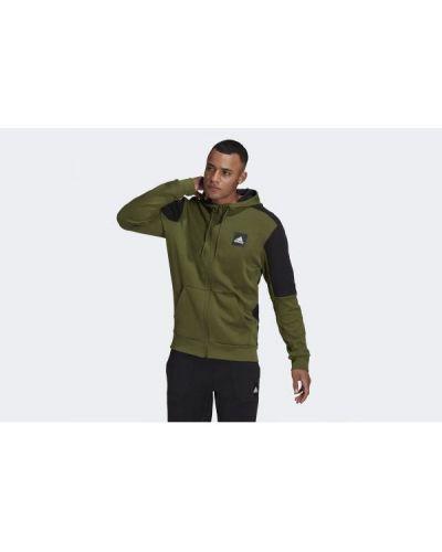 Zielona bluza bawełniana Adidas