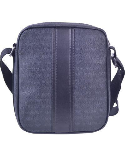 Кожаная сумка текстильная черный Armani Jeans