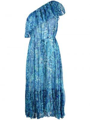 Платье миди в цветочный принт - синее Twin-set