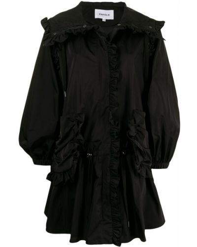 Черная длинная куртка Enföld