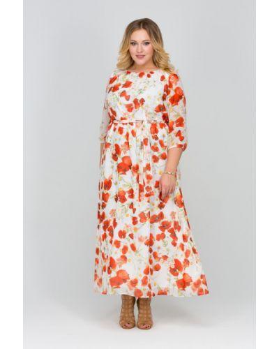 Платье макси с поясом на резинке Intikoma