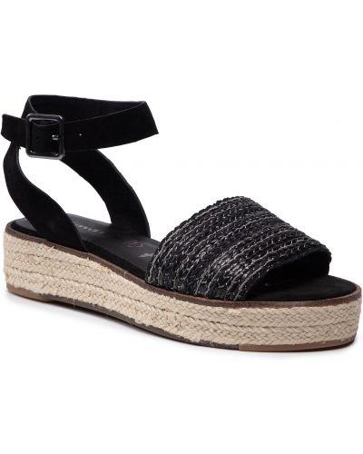 Sandały espadryle - czarne Tamaris