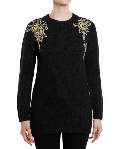 Черный свитер шерстяной Balmain