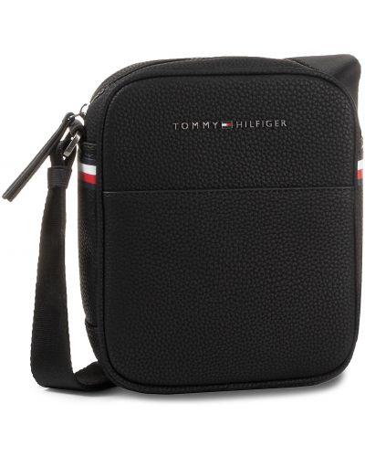 Skórzany torba czarny sztuczna skóra Tommy Hilfiger