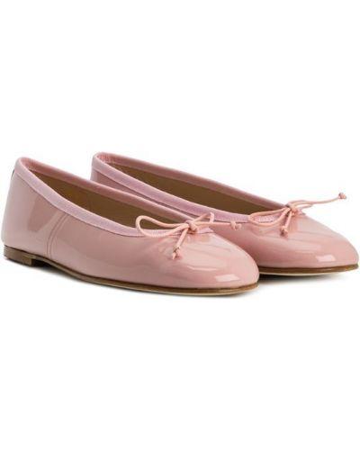 Балетки кожаные розовый Prosperine Kids