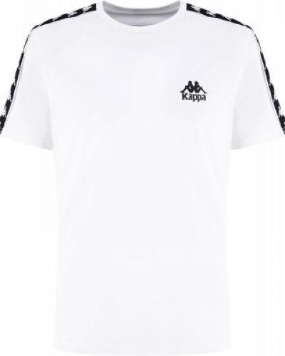 Белая спортивная хлопковая футболка Kappa