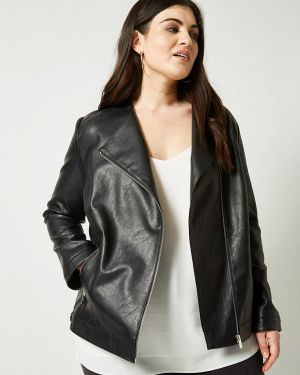 Кожаная куртка осенняя черная Dorothy Perkins Curve