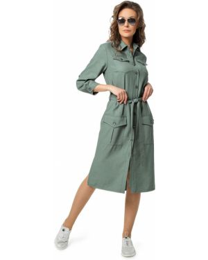 Повседневное платье на пуговицах сафари Dizzyway