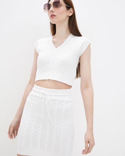 Вязаный костюм - белый Sewel