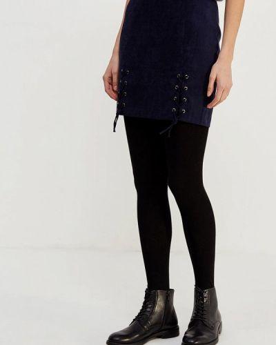 Синяя прямая юбка карандаш Ruxara