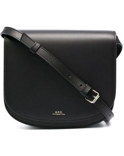 Кожаная черная сумка через плечо A.p.c.