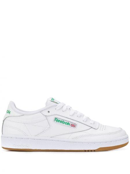 Кожаные кроссовки с логотипом белый Reebok