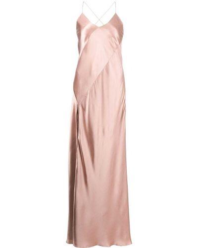 Платье с открытой спиной - розовое Michelle Mason