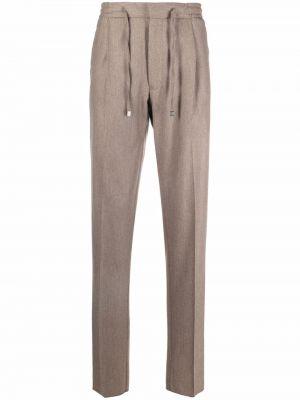 Beżowe spodnie bawełniane Lardini