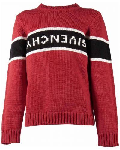 Czerwony z kaszmiru sweter Givenchy