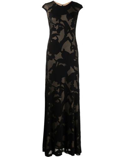 Черное платье с принтом Halston Heritage