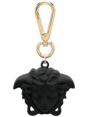 Золотистый черный брелок Versace Kids