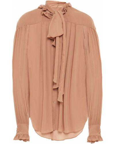 Плиссированная шифоновая блузка на пуговицах Rejina Pyo