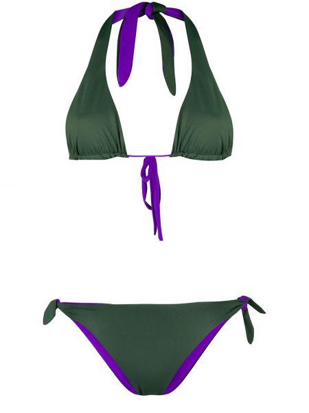 Пляжные фиолетовые бикини круглые с завязками Tara Matthews