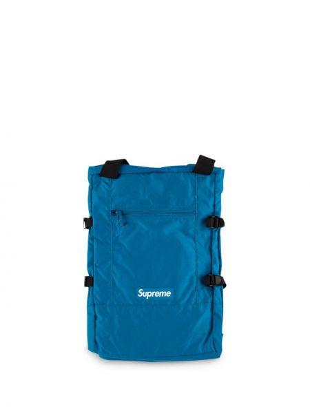 Ażurowy niebieski torba na ramię z nylonu Supreme