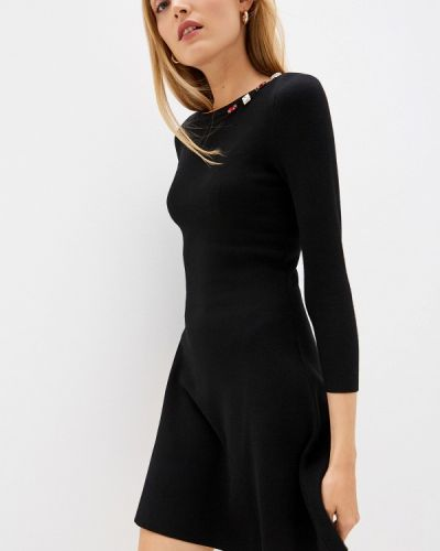 Повседневное платье осеннее черное Liu Jo