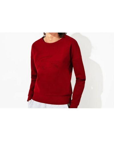 Bluza z haftem bawełniana oversize Lacoste