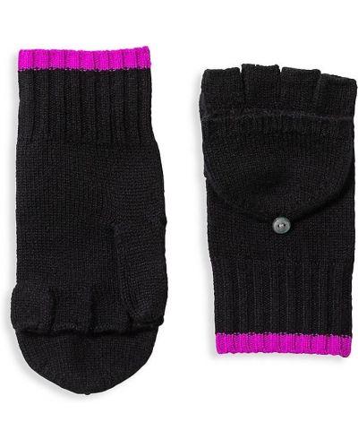 Rękawiczki bez palców - czarne Amicale