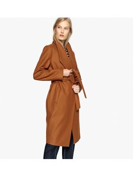 Пальто пальто-халат шерстяное La Redoute Collections
