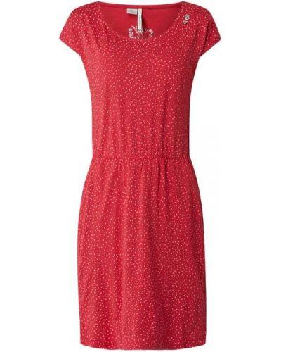Sukienka mini rozkloszowana bawełniana Ragwear