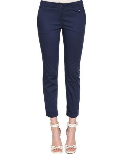 Синие брюки хлопковые Patrizia Pepe